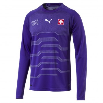 Switzerland WC Goalkeeper Jersey 2018-19 violet