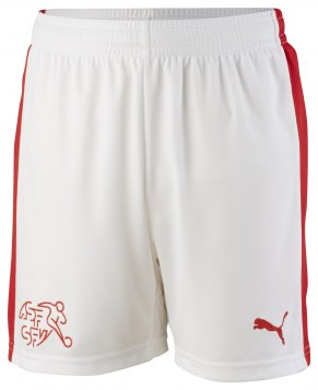Switzerland Children EC Shorts 2016-17 white