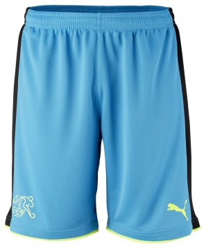 Switzerland Goalkeeper Shorts EC 2016-17 blue