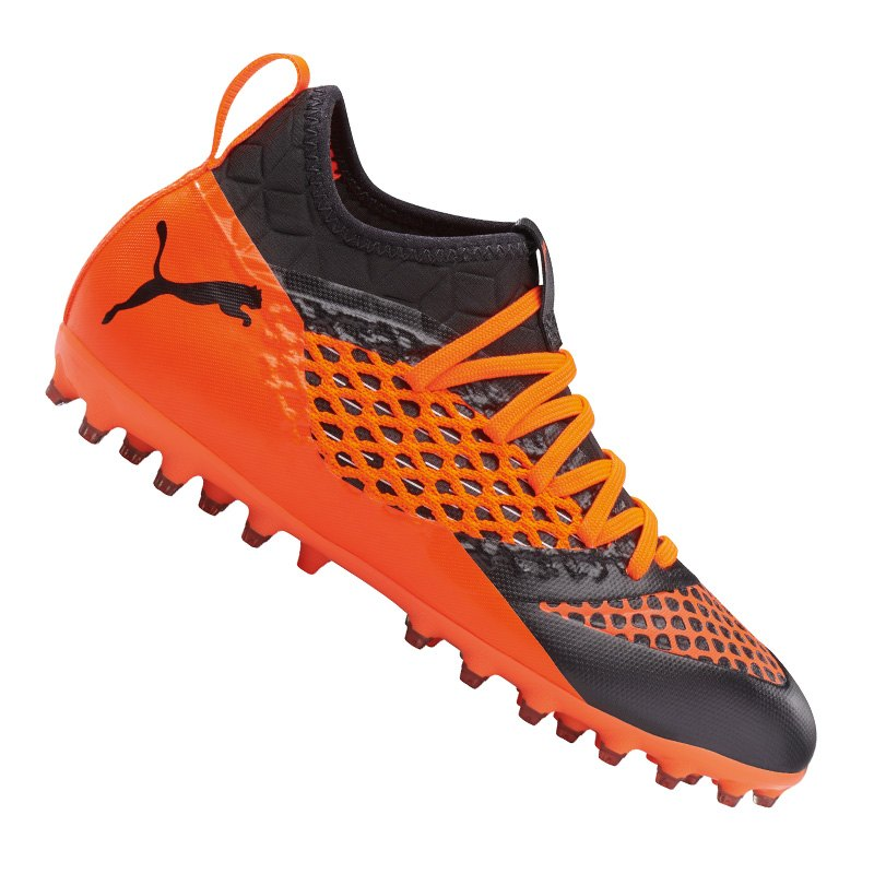PUMA FUTURE 2.3 NETFIT MG Jr Schuhe für Kinder Puma Black Shocking Orange