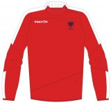 Albanien Spieler Training 1/4 Zip Sweatshirt rot 2016-17