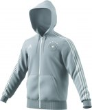DFB 3 Stripes Full Zip Hoody / grau